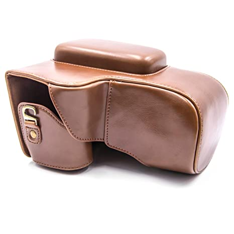 vhbw Poliuretano cámara-Bolsa marrón para cámara Nikon ...