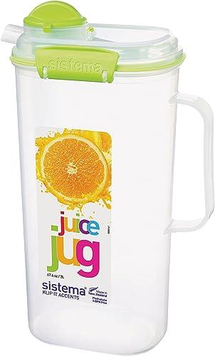 Sistema 1-Piece 2 Litre Polypropylene Juice Jug