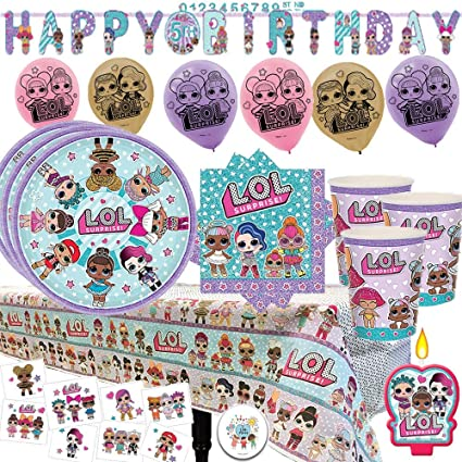 Amazon Com Lol Surprise Mega Party Supply Pack And Decorations For