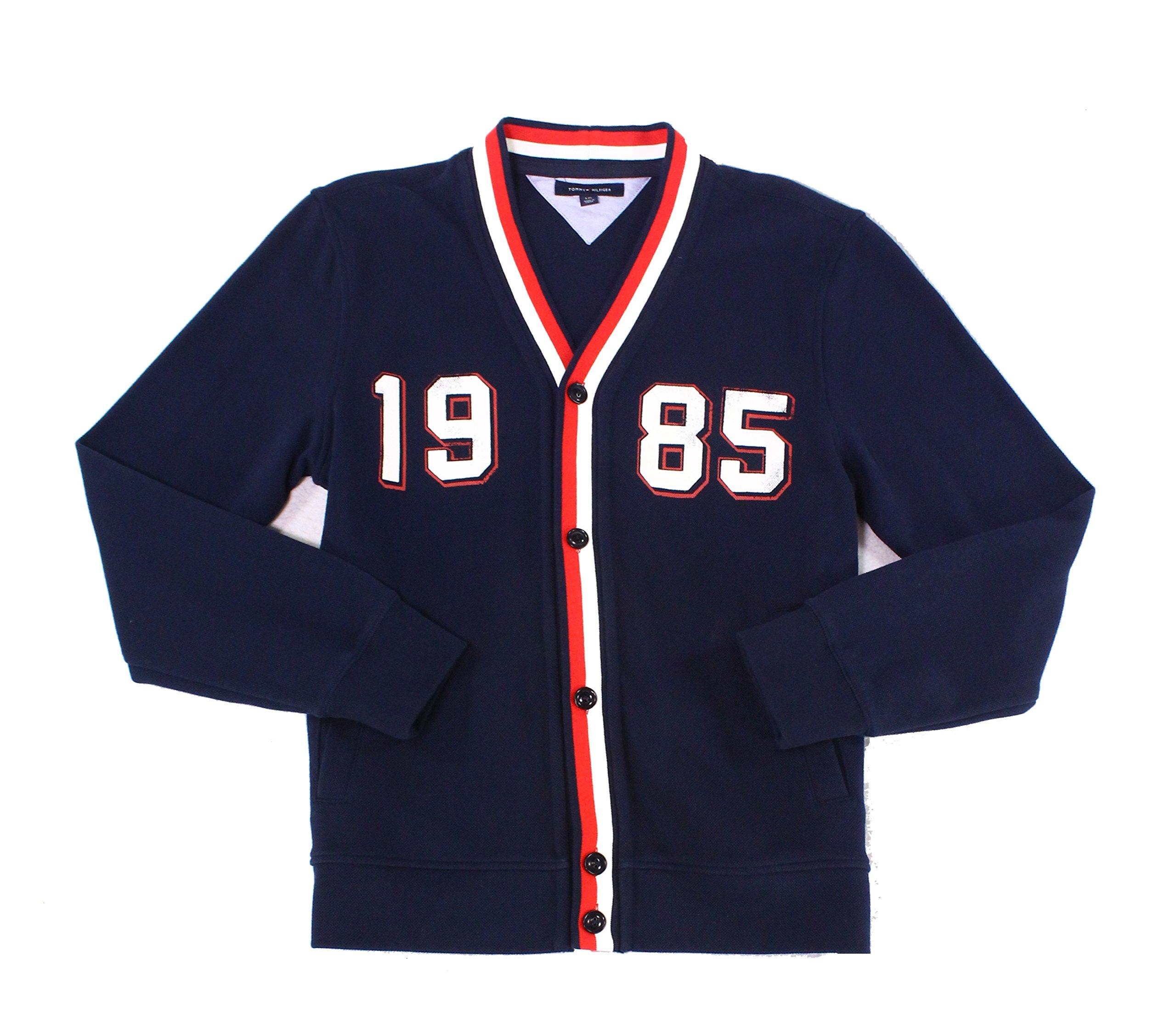 Tommy Hilfiger Men's Varsity-Style Sport Coat (Large, Navy)