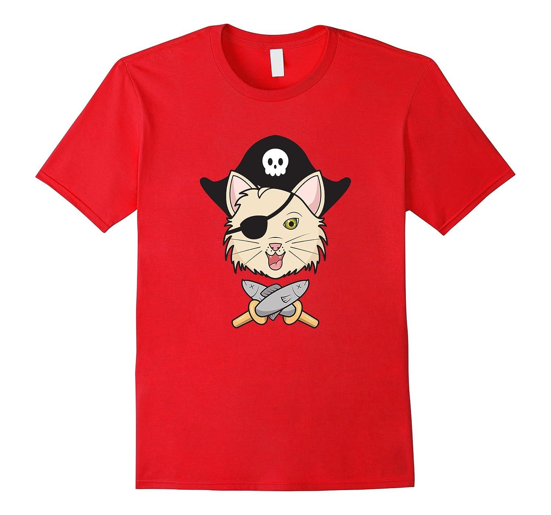 Cat Pirate T-Shirt - Graphic Kitten Minnow Sword Pirate Tee-Art