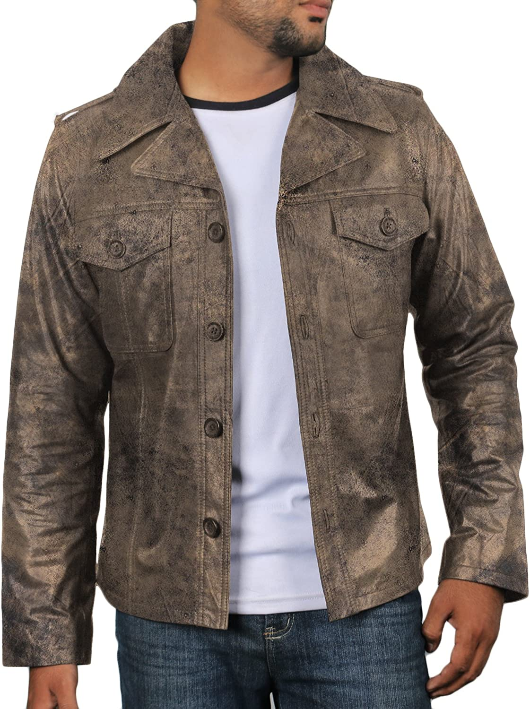 1501108 Laverapelle Mens Genuine Lambskin Leather Jacket Black, Regal Jacket