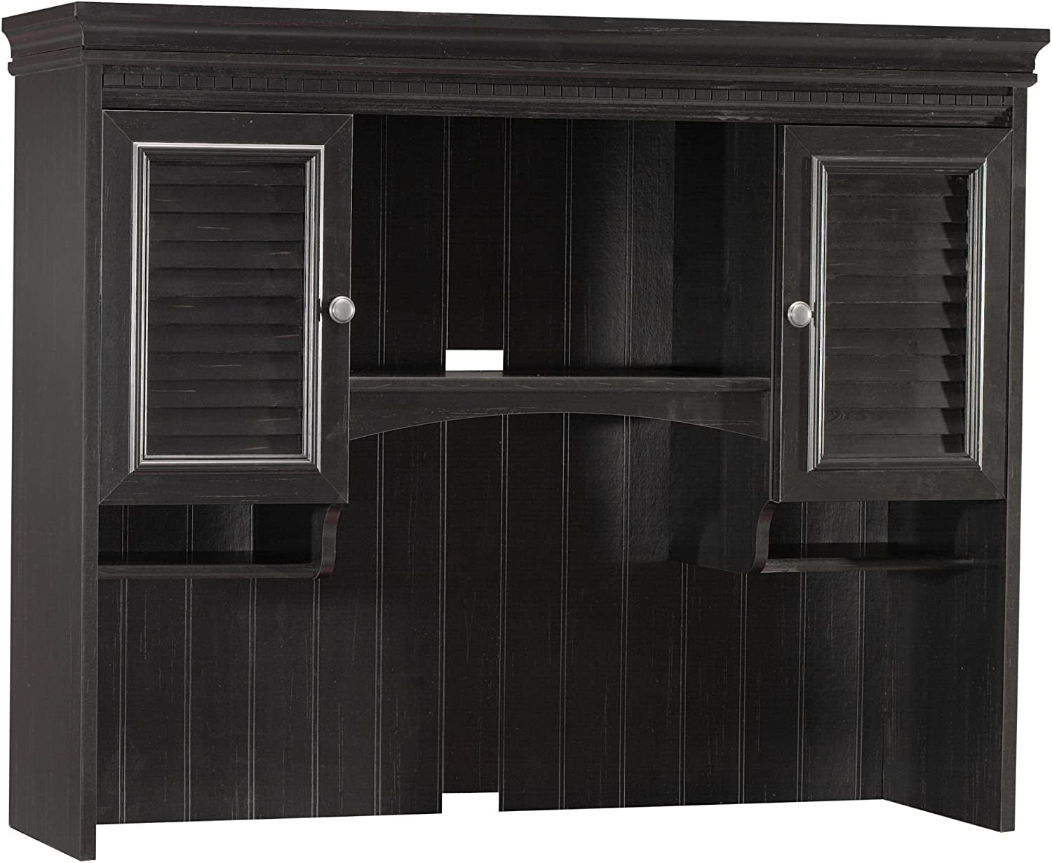 Bush Furniture Stanford Hutch for Computer Desk in Antique Black