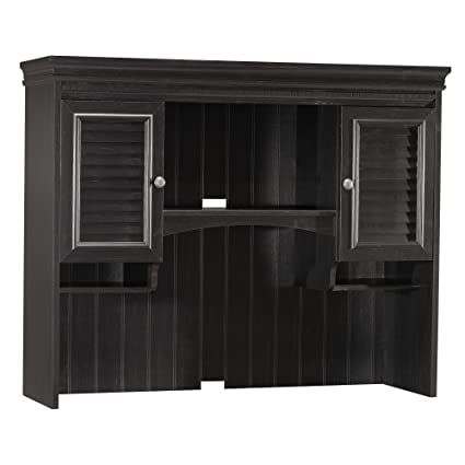 Elegant Bush Furniture Stanford Hutch For Computer Desk In Antique Black