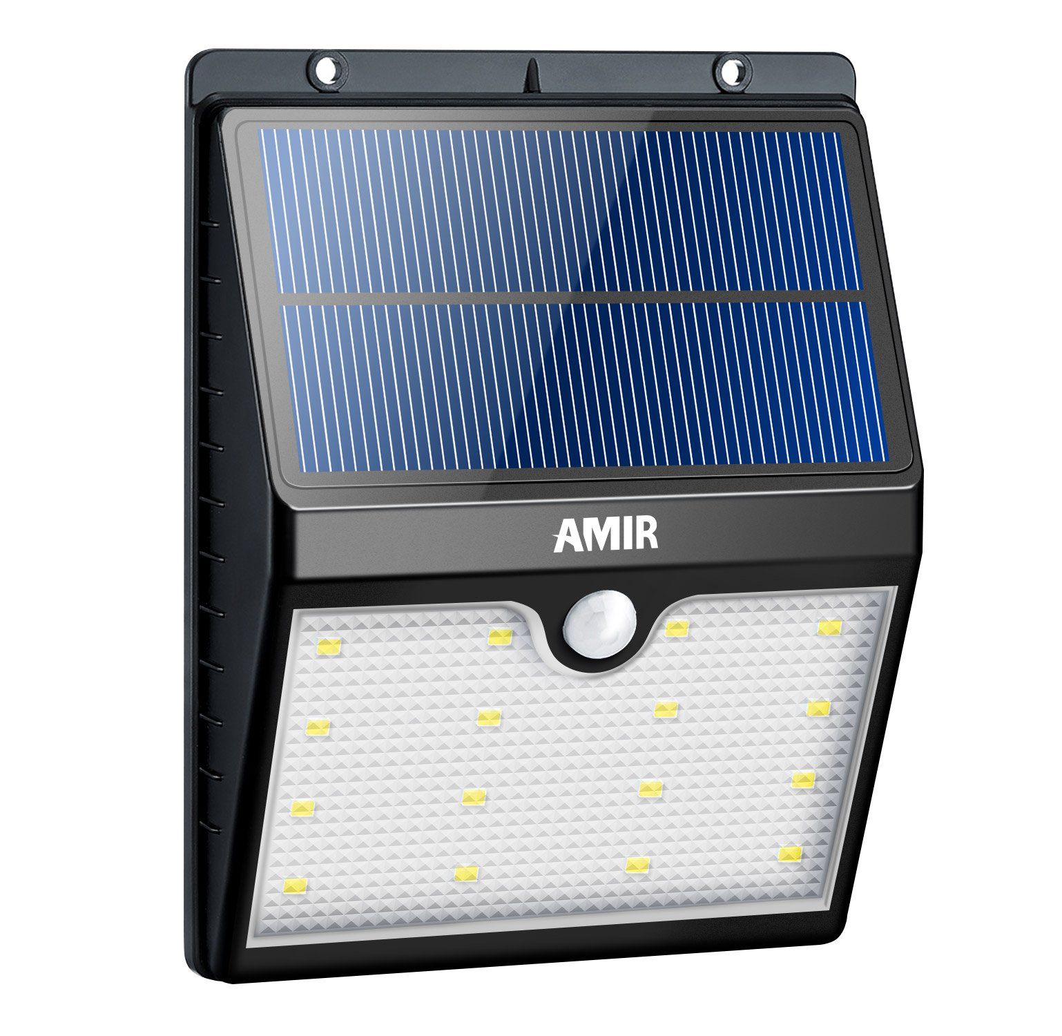 AMIR Solar Lights Outdoor, 16 LED Motion Sensor Wall Light, Waterproof Landscape Lighting, Wireless Solar Security Light, Auto On/ Off, for Step, Tree, Patio, Yard, Garden, Driveway, Stairs, Pool Area