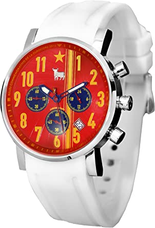 Reloj Toro Watch TO-1210-2 Furia ROJA CRONOGRAFO O Correa ESPAÑA DE Regalo 5 ATM. EDICIÓN Conmemorativa: Amazon.es: Relojes