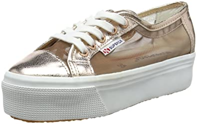 Superga 2790 Netw, Unisex Erwachsene Platform Sneakers, Rosa (Rose Gold), 35 EU
