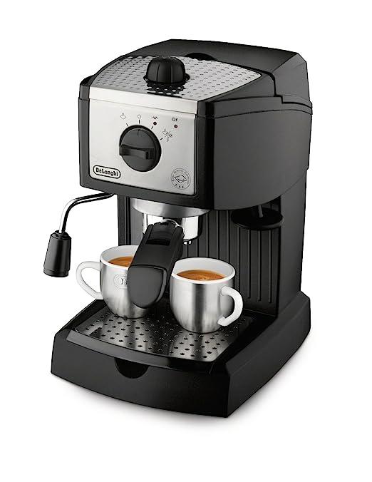 DeLonghi - Cafetera Espresso Ec155, 1L, 15 Bar, Negro-Metal, (Cafe ...