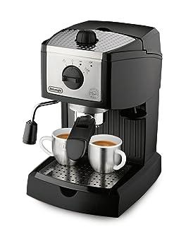 DeLonghi - Cafetera Espresso Ec155, 1L, 15 Bar, Negro-Metal, (Cafe Molido Y Pastillas), Capuccino System,: Amazon.es: Hogar