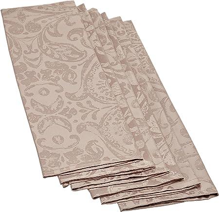 Set di 6 tovaglioli lino bianco 45 x 45 cm