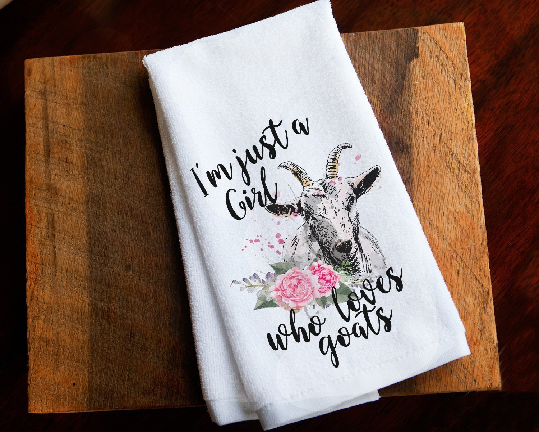 Funny Kitchen Towel Home Decor Goat Farmhouse by Mahmo's House (Image #1)
