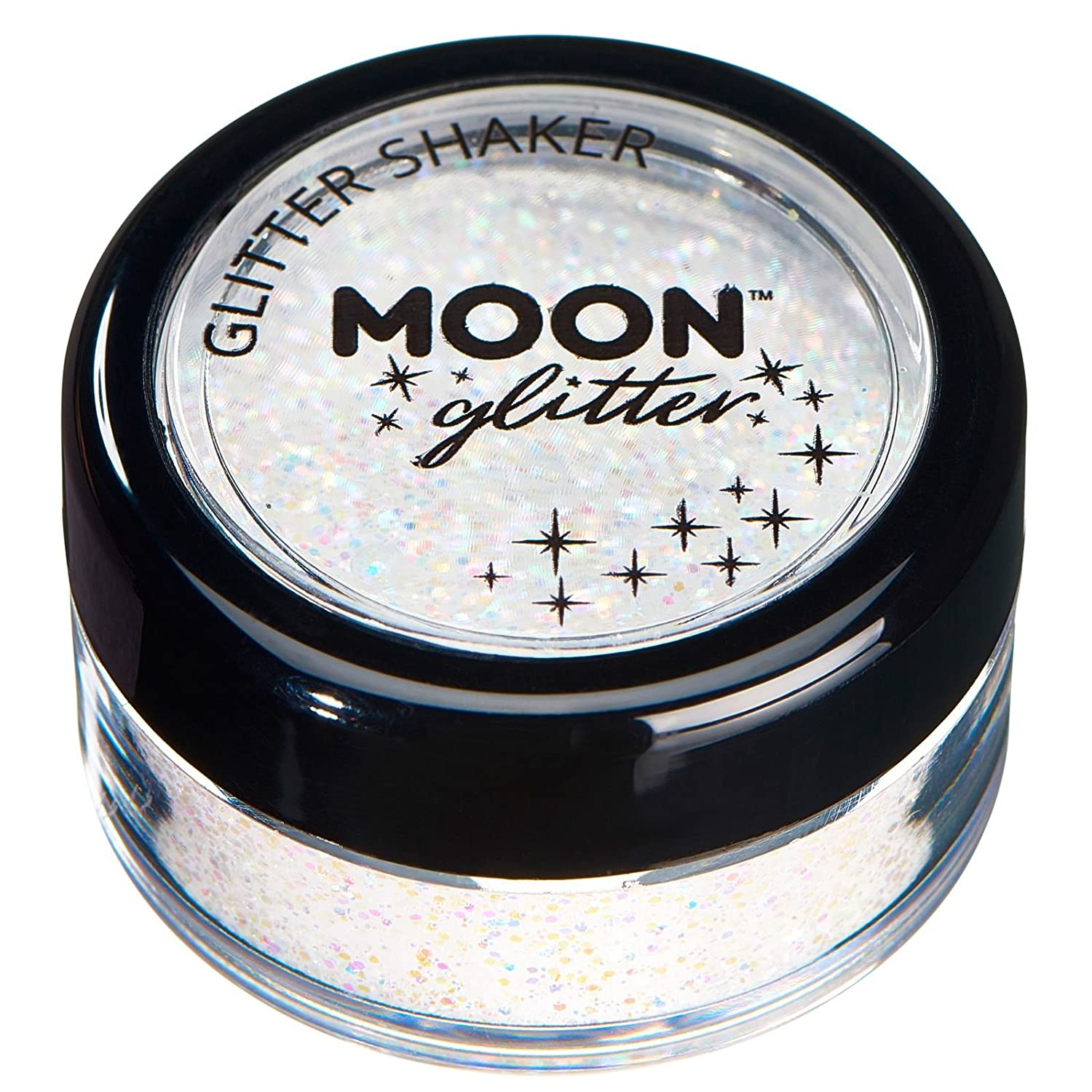 Pastel Glitter Shakers by Moon Glitter – 100% Cosmetic Glitter for Face, Body, Nails, Hair and Lips - 0.10oz - White