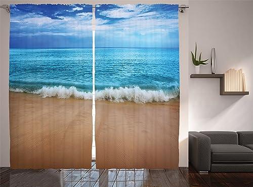 Ambesonne Ocean Curtain