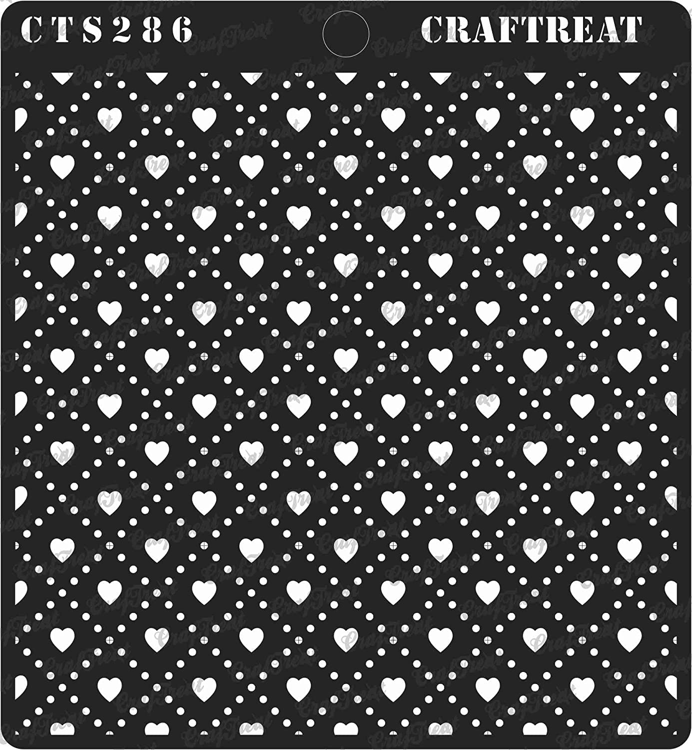 Home Decor Crafting Houndstooth Reusable Painting Template for Journal Tile Notebook Scrapbook and Printing on Paper CrafTreat Stencil Wood 6X6 Wall Floor Fabric DIY Albums
