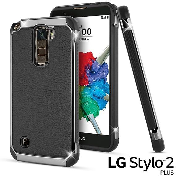 buy online 7f25c 4f42e LG Stylus 2 Plus Case, LG Stylo 2 Plus Case, Celljoy [Deluxe Shock Armor]  Slim Fit Dual Layer Protective ((Shockproof)) Hybrid Bumper [[Impact ...