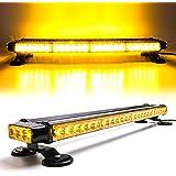 "CUMART 26.5"" Amber Yellow 54 LED Automotive Warning Emergency Flashing Snow Plows Light Bar Double Side Strobe Light Traffic"