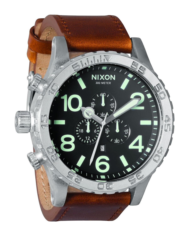 [ニクソン]NIXON 腕時計 51-30 CHRONO LEATHER BLACK/SADDLE NA1241037-00 メンズ 【正規輸入品】 B004W66ER6