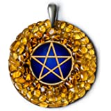 Pentagram Baltic Amber Handmade Charm Amulet Protection Necklace - Spiritual, Pagan, Wiccan or New Age Gift