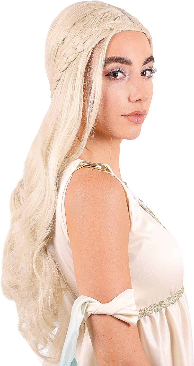 Narwhal Novelties Renaissance Dragon Queen Blonde Wig for Women, Halloween, Costume Wigs