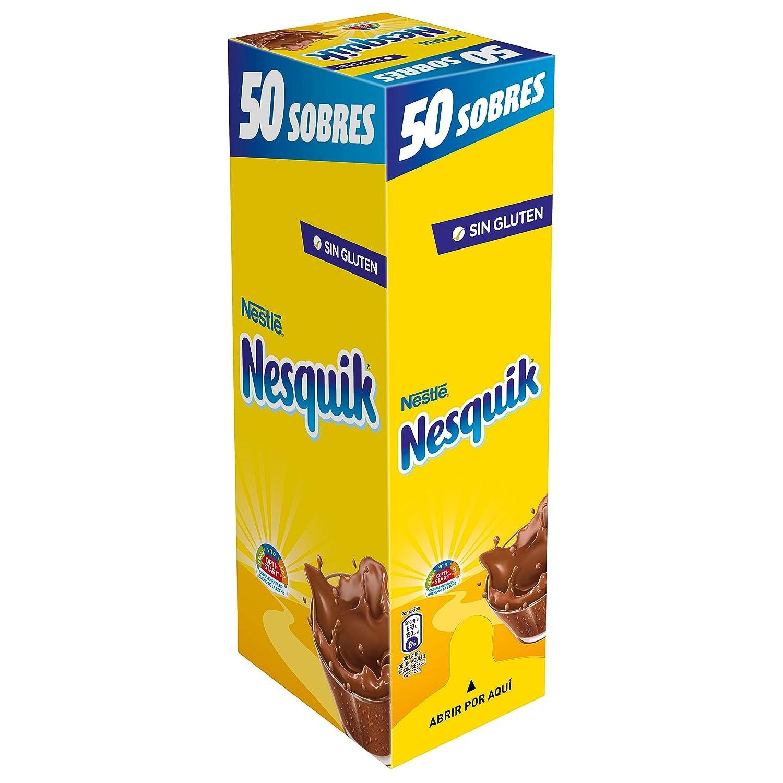 Nestlé Nesquik Cacao Soluble Instantáneo - 50 Sobres: Amazon.es: Amazon Pantry