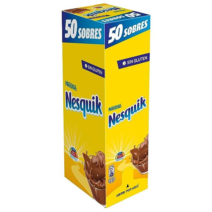 Nestlé Nesquik Cacao Soluble Instantáneo - 50 Sobres: Amazon ...
