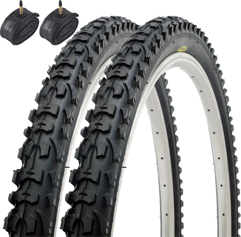 Fincci Par Híbrida Plegable Neumáticos de Bicicleta de Montaña ...