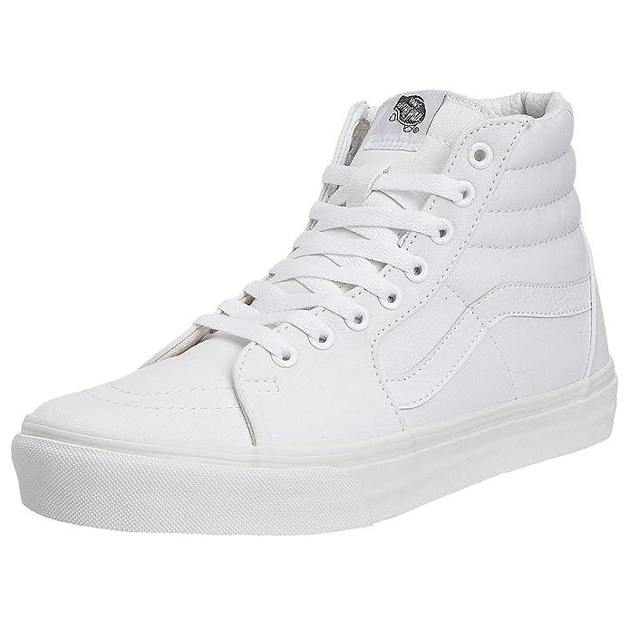 Vans Sk8-hi Canvas Hi-Top Sneaker Unisex-Erwachsene Weiß