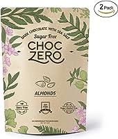 ChocZero's Keto Bark, Dark Chocolate Almonds with Sea Salt. Sugar Free, Low Carb. No Sugar Alcohols, No Artificial...
