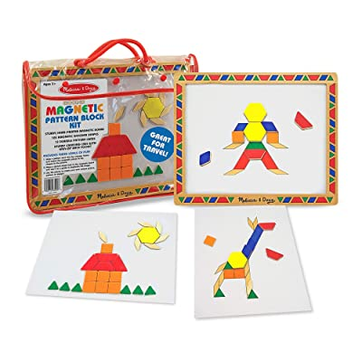 Melissa & Doug Deluxe Magnetic Pattern Blocks Set: Melissa & Doug: Toys & Games