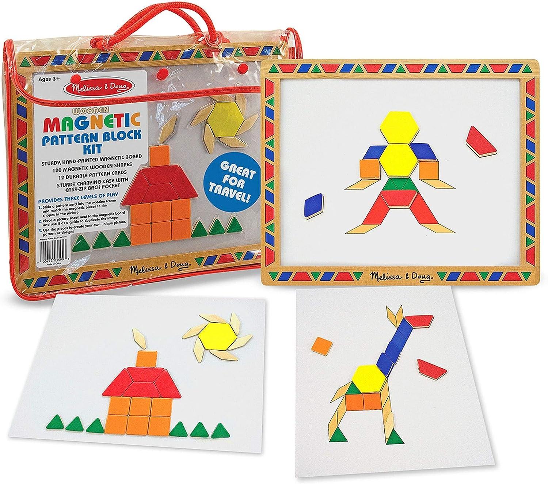Amazon.com: Melissa & Doug Deluxe Magnetic Pattern Blocks Set