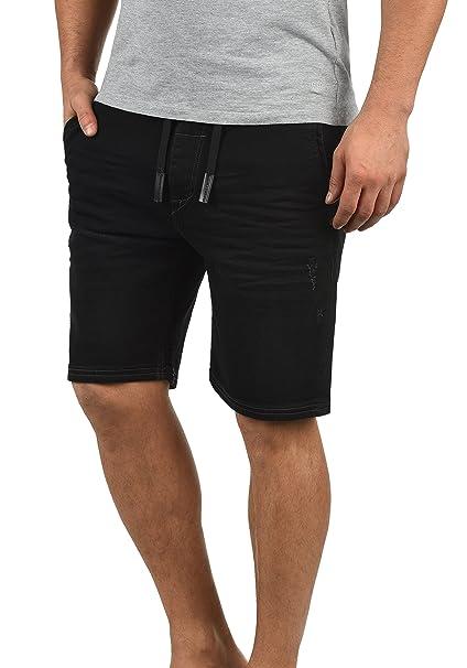 Blend Bartels Herren Jeans Shorts Jogger-Denim Kurze Hose Mit Elastischem Bund Und Destroyed-Optik Aus Stretch-Material Slim
