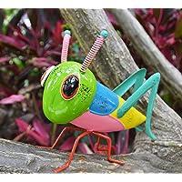 GIFTME 5 Metal Yart Art Garden Statues Grasshopper Figurines for Outdoor Patio Yard Decorations Locust Decor,10 Inch…