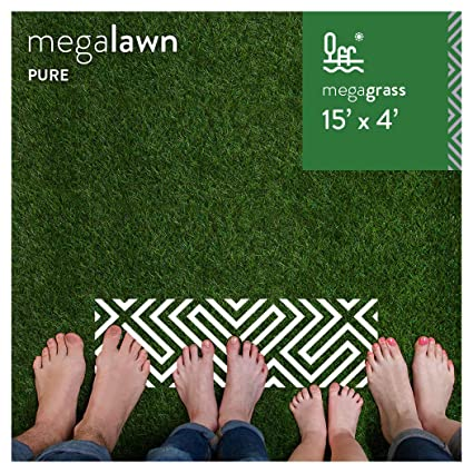 MEGAGRASS MegaLawn Artificial Grass for Lawn Landscaping and Pets –  Eco-Friendly Indoor and Outdoor Synthetic Fake Green Grass Turf Rug Mat in  Custom