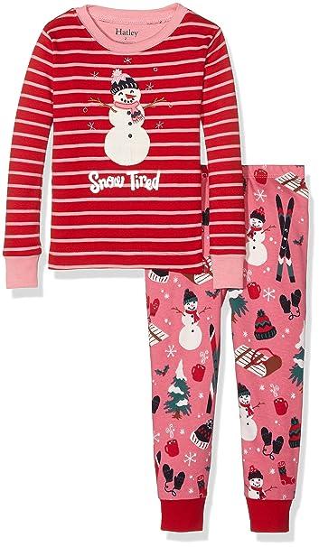 Hatley PJ (App) -Vintage Holiday-Snow Tired, Pijama para Niños,