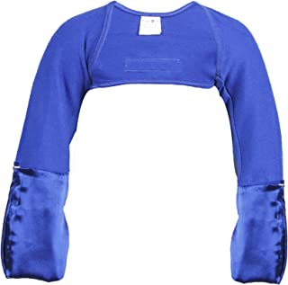 Scratch Me Not Flip Mitten Sleeves - Soft Stay On No Scratch Mitts - Solid Blue