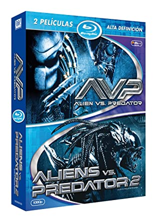 Pack 2 - Alien Vs Predator 1 Y 2 Blu-Ray [Blu-ray]: Amazon.es ...