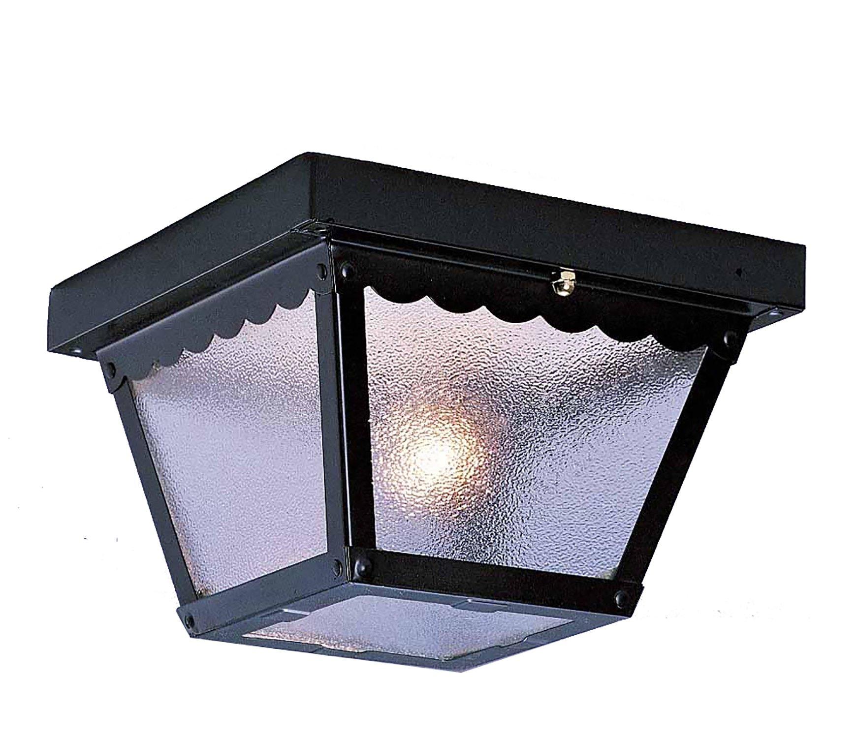 Volume Lighting V7231-5 1-Light Outdoor Ceiling Mount, Black