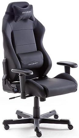 Robas Lund DX Racer Chaise De Gaming Fauteuil Bureau PU Noir
