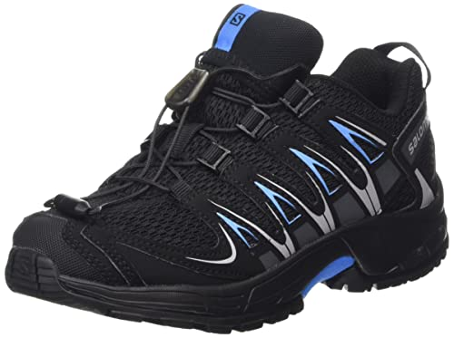 Salomon XA Pro 3D J, Zapatillas de Running para Niños, Gris Black/Freedom Blue, 32 EU: Amazon.es: Zapatos y complementos