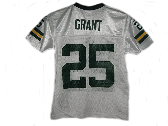 reebok green bay packers ryan grant 25 white replica jersey sale
