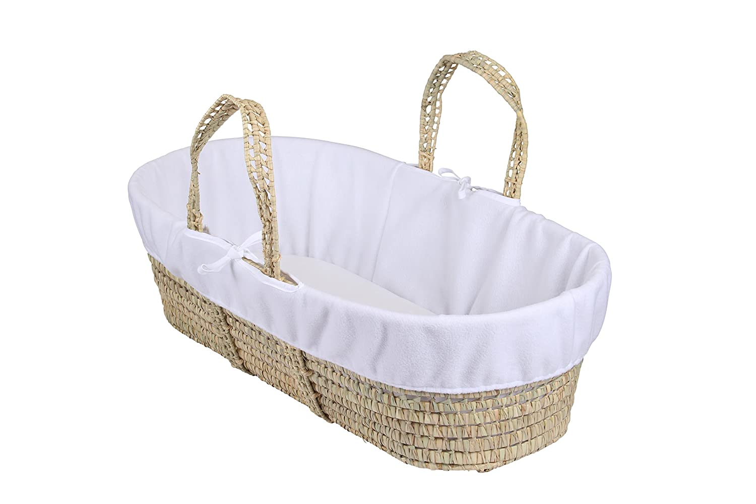 Clair de Lune Fleece Liner/Dressing for Moses/Wicker Basket (White) BabyCenter CL5533W