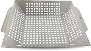 Yukon Glory Large Grilling Basket for Vegetables, Fish Etc. Made of Premium Stainless Steel, The Most Popular Vegetable Grill Basket for All Grills