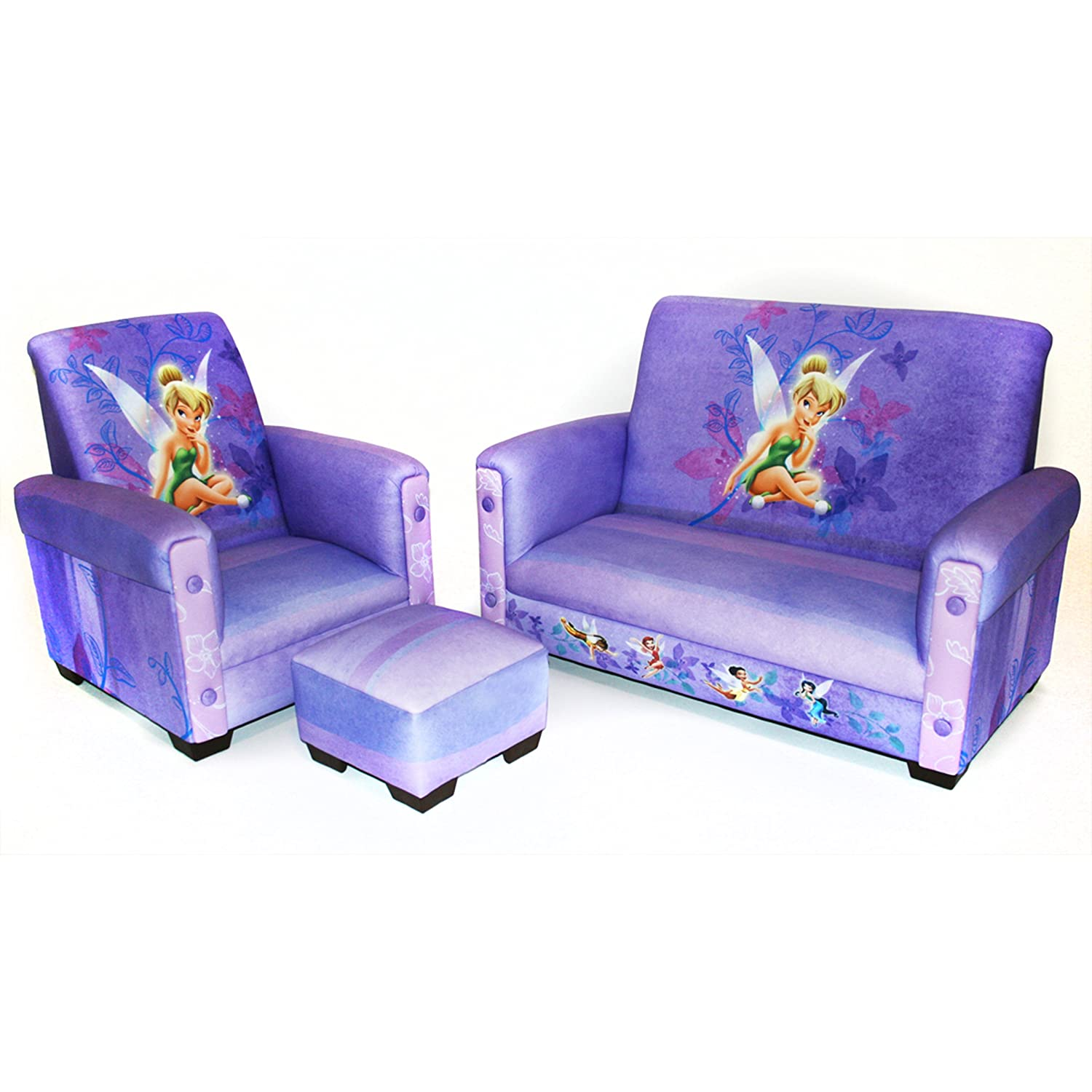 Amazon.com Disney Tinker Bell Fairies Toddler Sofa Chair And Ottoman Set Toys u0026 Games  sc 1 st  Amazon.com & Amazon.com: Disney Tinker Bell Fairies Toddler Sofa Chair And ...