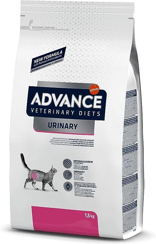 ADVANCE Veterinary Diets Urinary Pienso para Gatos con Problemas Urinarios - 1,5kg: Amazon.es: Productos para mascotas