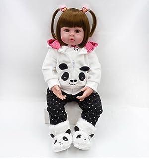 a4d9c46fa1cee MAIDEDOLL Reborn Bambola Molle del Bambino di Simulazione del Silicone  Vinile Magnetica Bocca Bella Realistica Sveglia