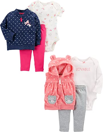 600e0d005fbe2 Carter's Girls' 6-Piece Jacket and Vest Set