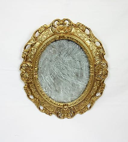 Espejo dorado espejo dorado marco ovalado estilo barroco Artificial ...