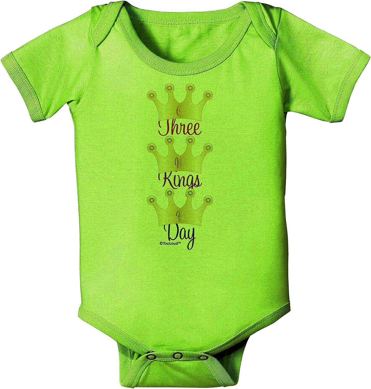 C M B Crowns Baby Romper Bodysuit TooLoud Three Kings Day
