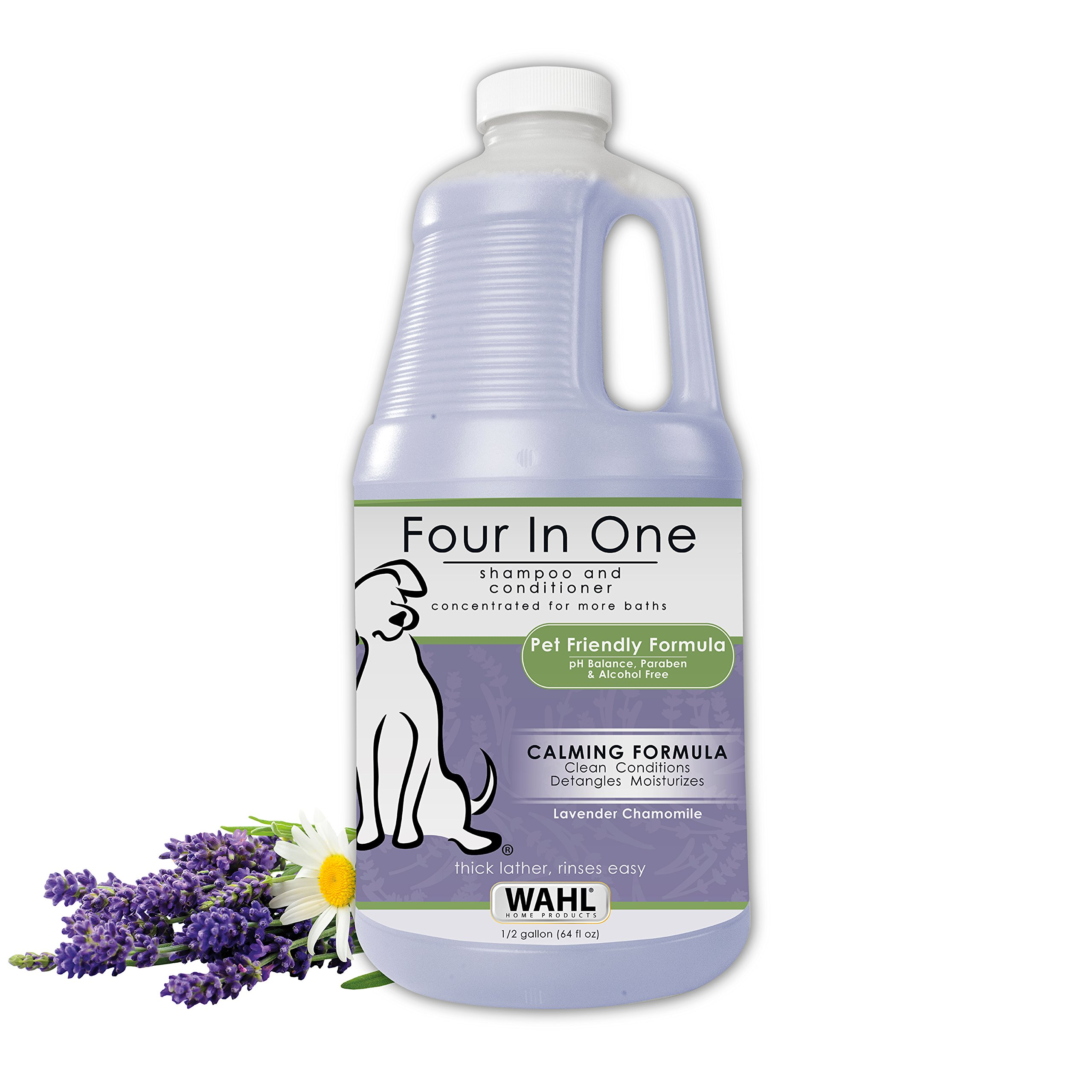 WAHL Pet/Dog 4-in-1 Chamomile Shampoo Lavender 821000-051 Grooming Dog Shampoo to Clean, Condition, Moisturize & Detangle