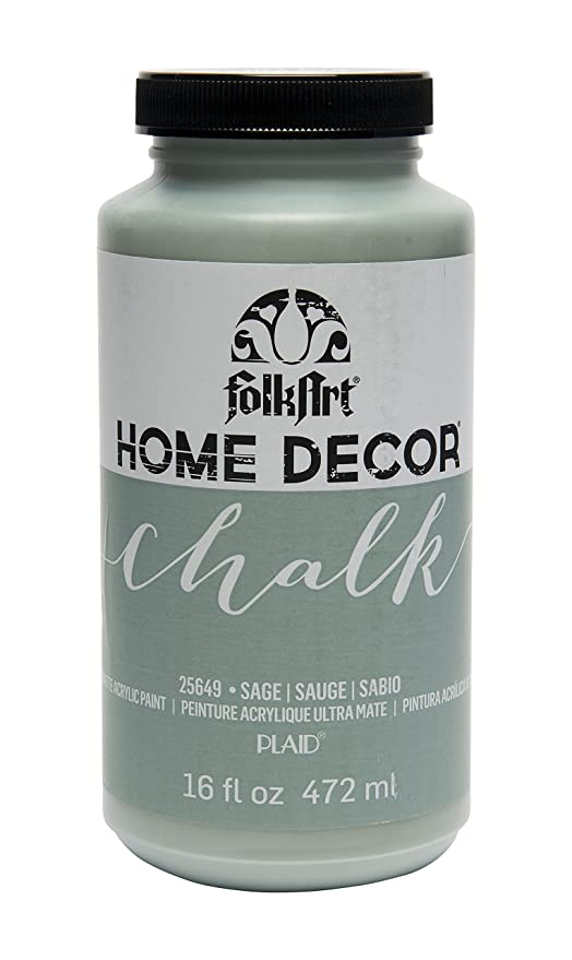 fe8e1d30737 Amazon.com: FolkArt 25649 Chalk Finish Paint, 16 ounce, Sage